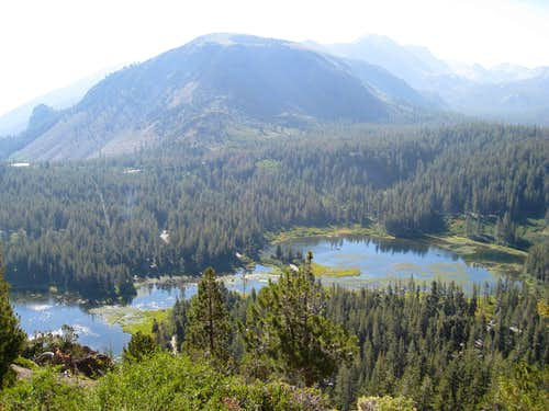Twin Lakes from Trail