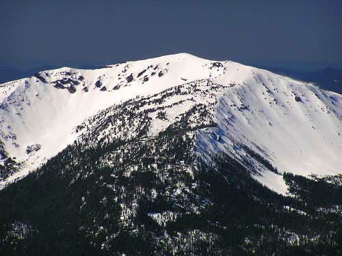Zoomed in shot of the summit...