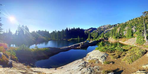 Rampart Lakes in the Morning