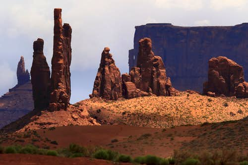 Totem Pole Area of Monument Valley