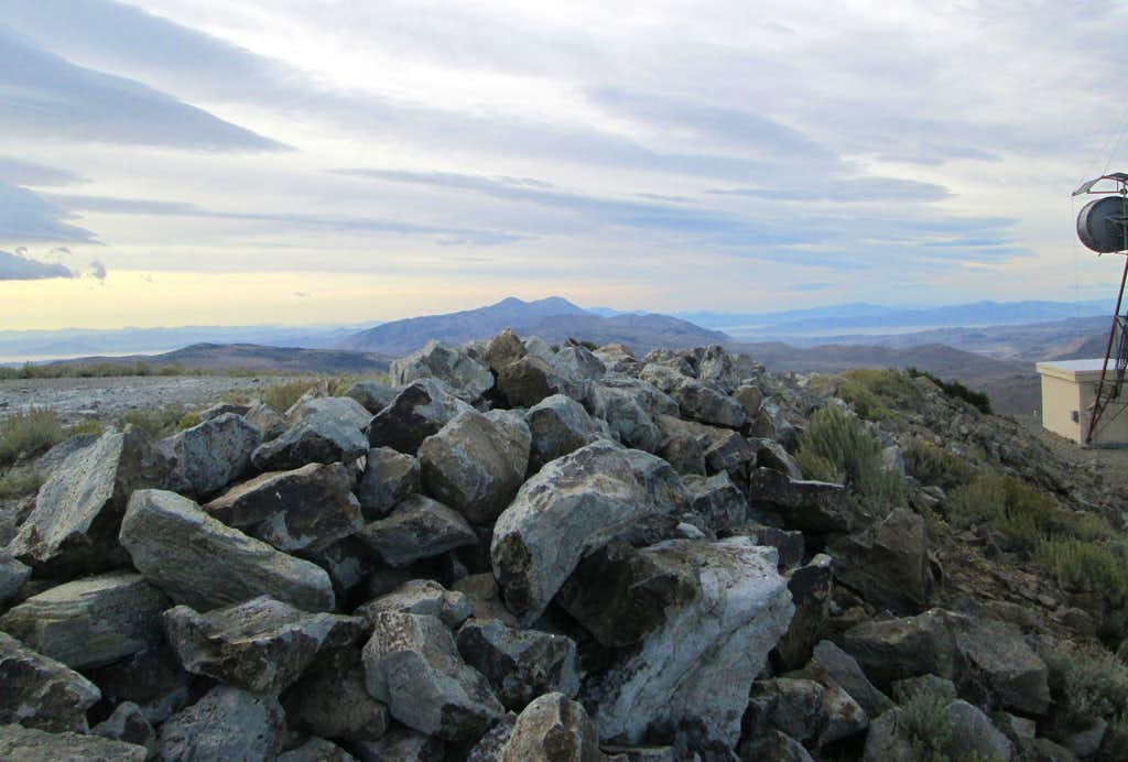 The top of Fox Mountain