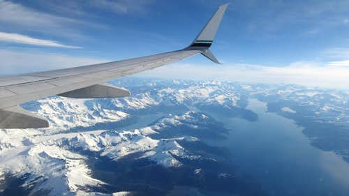 College Fjord from the plane into Anchorage