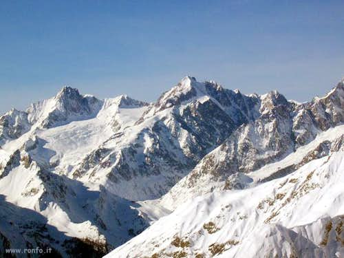Mont Blanc massif: from the...