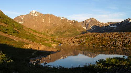Cantata and Triangle Peaks from Eagle Lake
