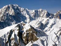The Mont Blanc and the sharp...