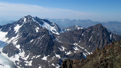 Cantata and Calliope Peaks from Eagle Peak