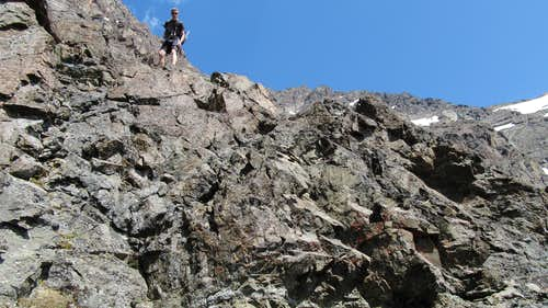 One of the cruxes on Eagle Peak