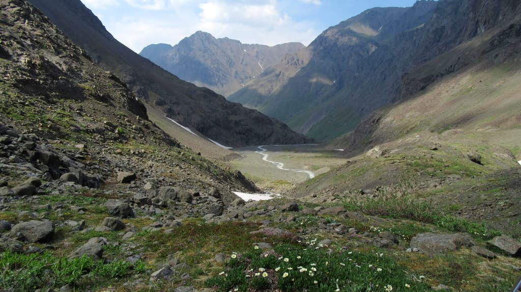 Looking down the South Fork of the Eagle River
