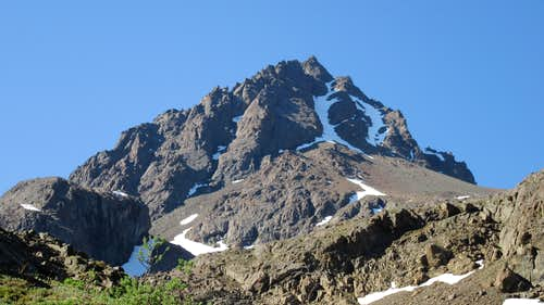 West face of Eagle Peak from the valley