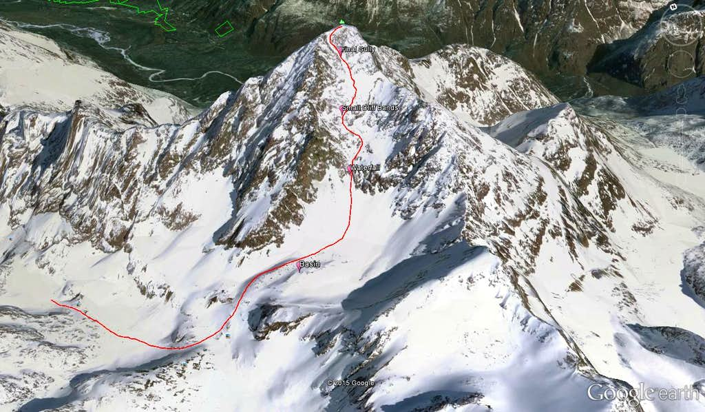 Eagle Peak South Face Route Overview