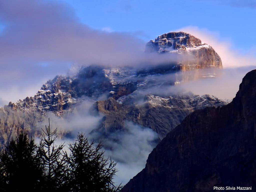 September first snow on Croda Rossa d'Ampezzo
