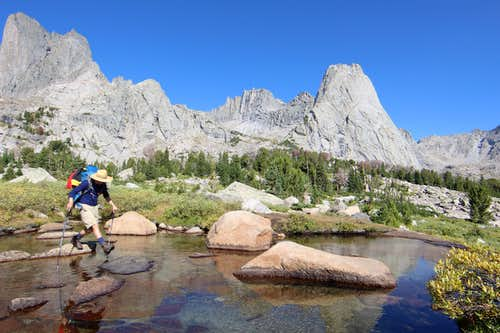 hiking in Wind River Range