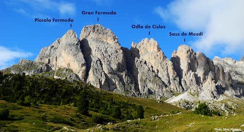 Alpe di Cisles annotated pano