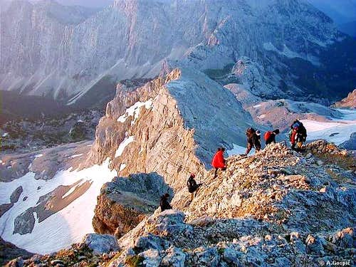Triglav ascent from Planika