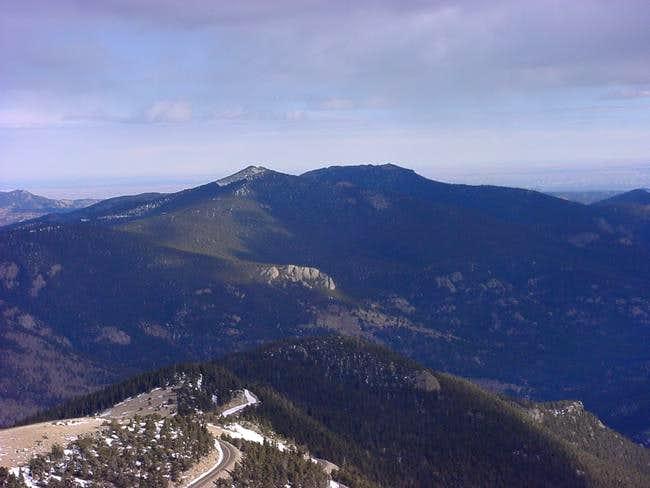 Cheif Mountain (left) and...