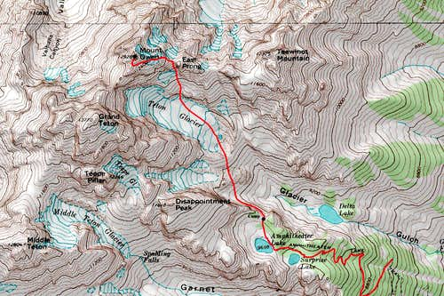 Mount Owen Topo Map