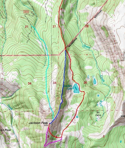 Jackson Peak Topo Map