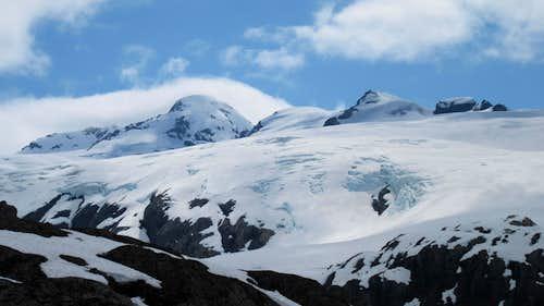 Big Mountains above Blackstone Bay