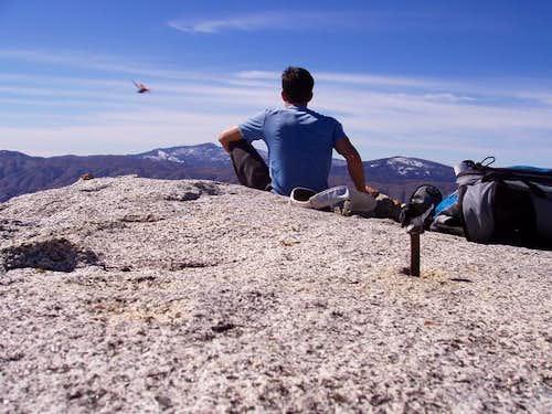 Sitting on the broad summit...