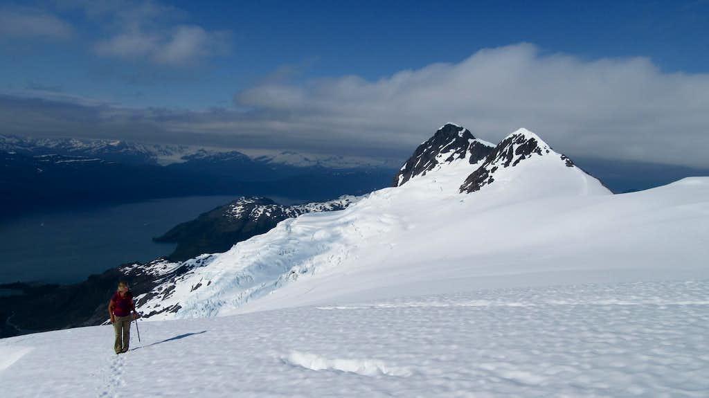 Ascending the edge of the glacier