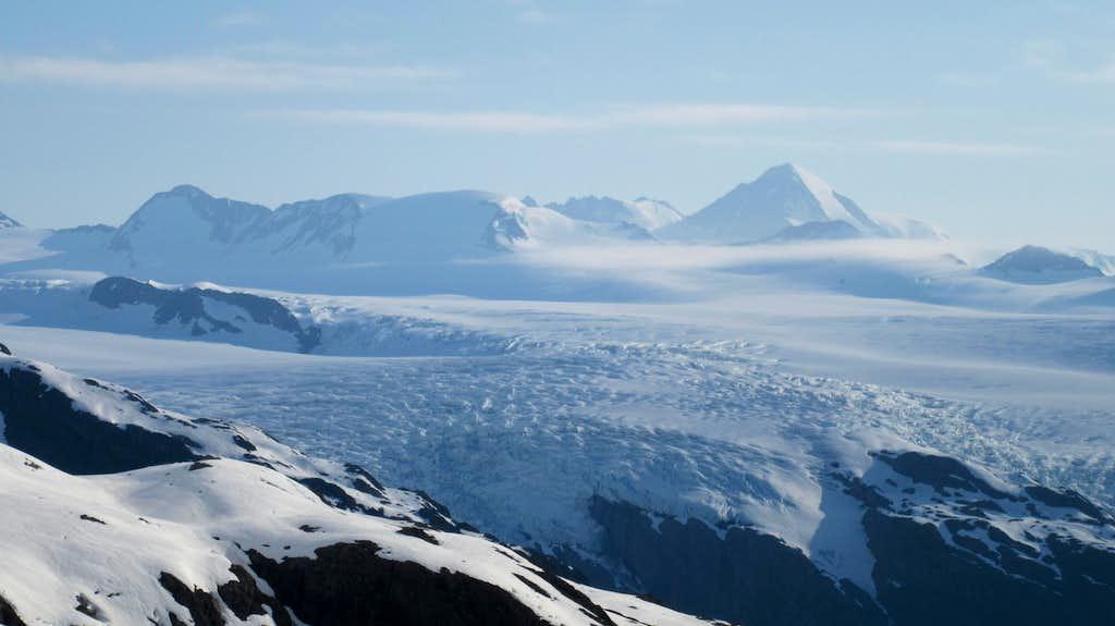 Huge glaciers above Blackstone Bay