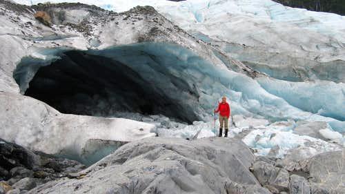 The ice came at the toe of Lawrence Glacier