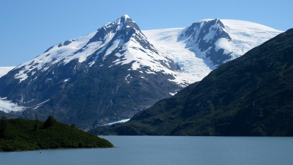 Big peaks above Portage Lake