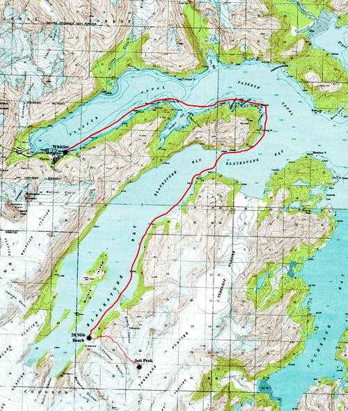 Blackstone Bay and Jatt Peak Topo Map