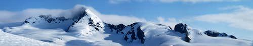 Panorama from the route up Jatt Peak