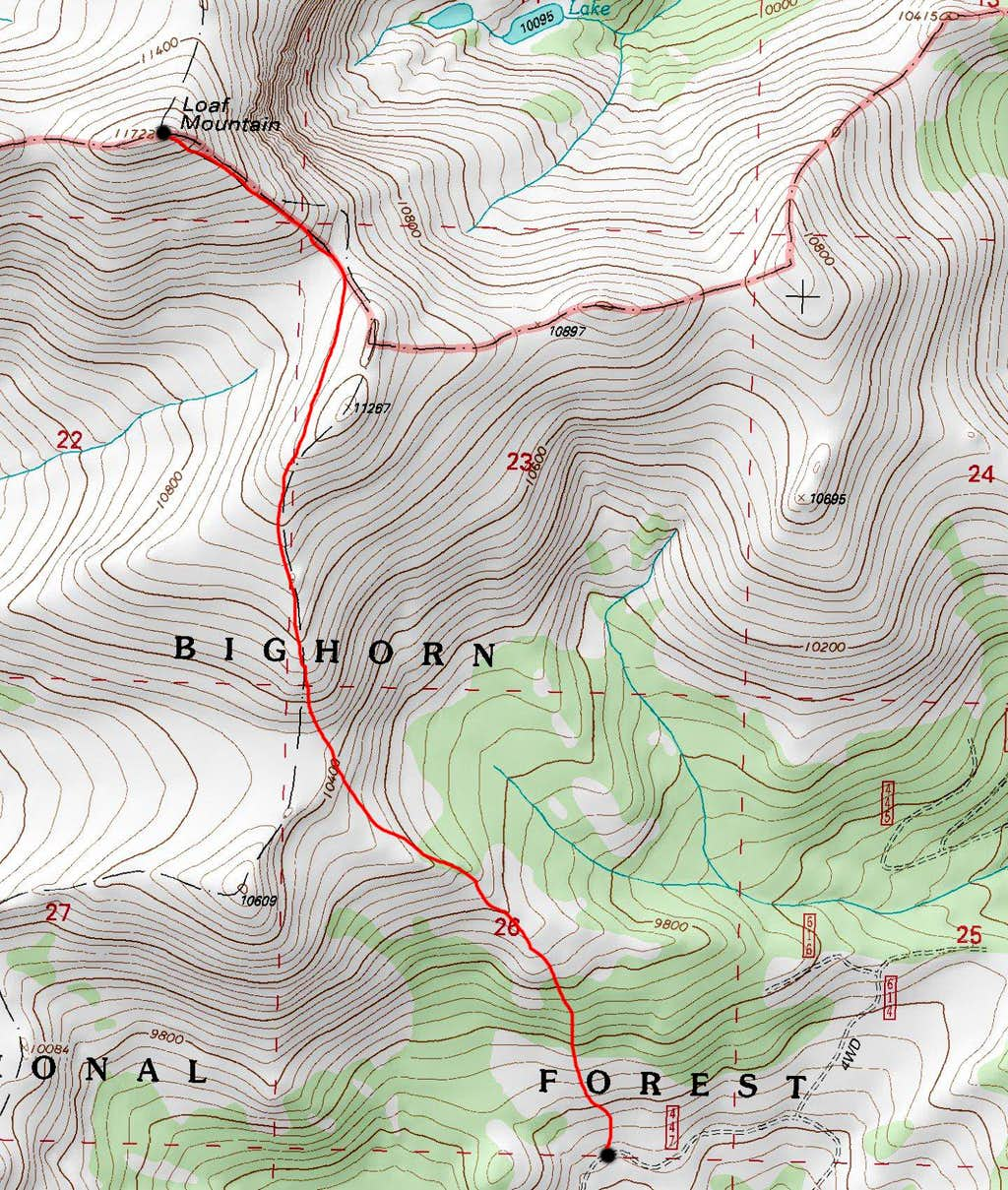 Loaf Mountain Topo Map