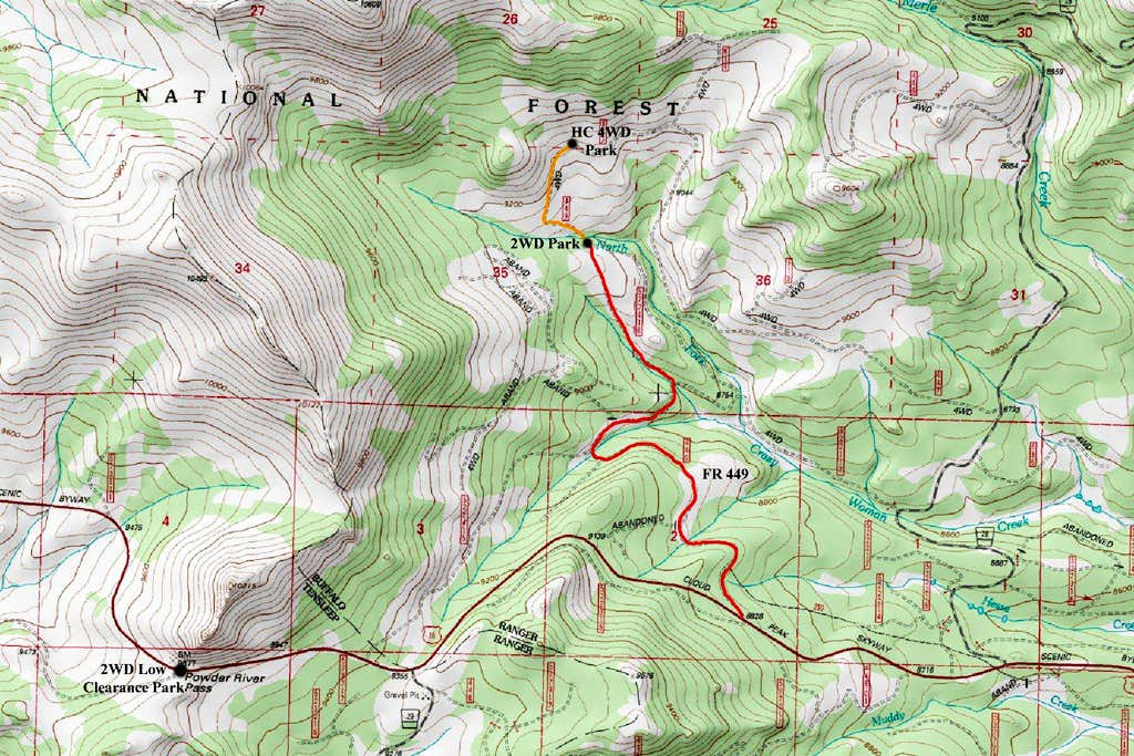 Loaf Mountain TH Map