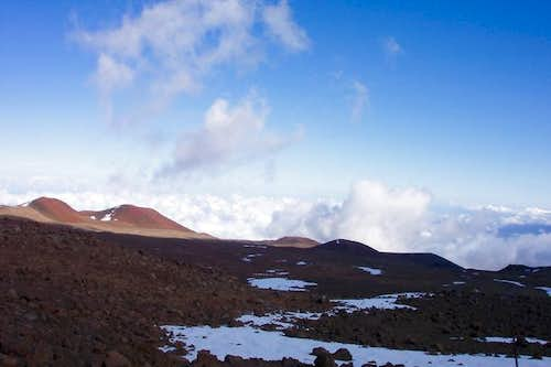 Clouds below Mauna Kea....