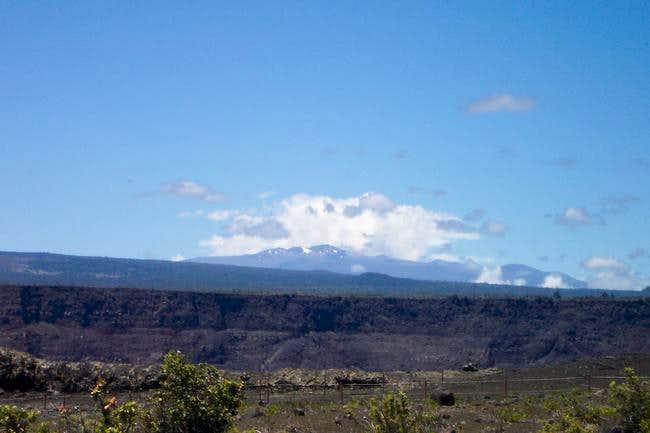 Mauna Kea from Kilauea area...