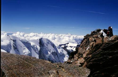 The Dufourspitze. On the left...