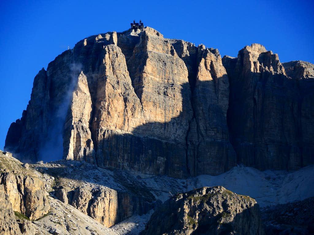 Sass Pordoi - View from Pordoi Pass