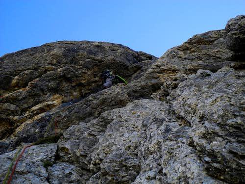 Black slab on Sass Becè W ridge
