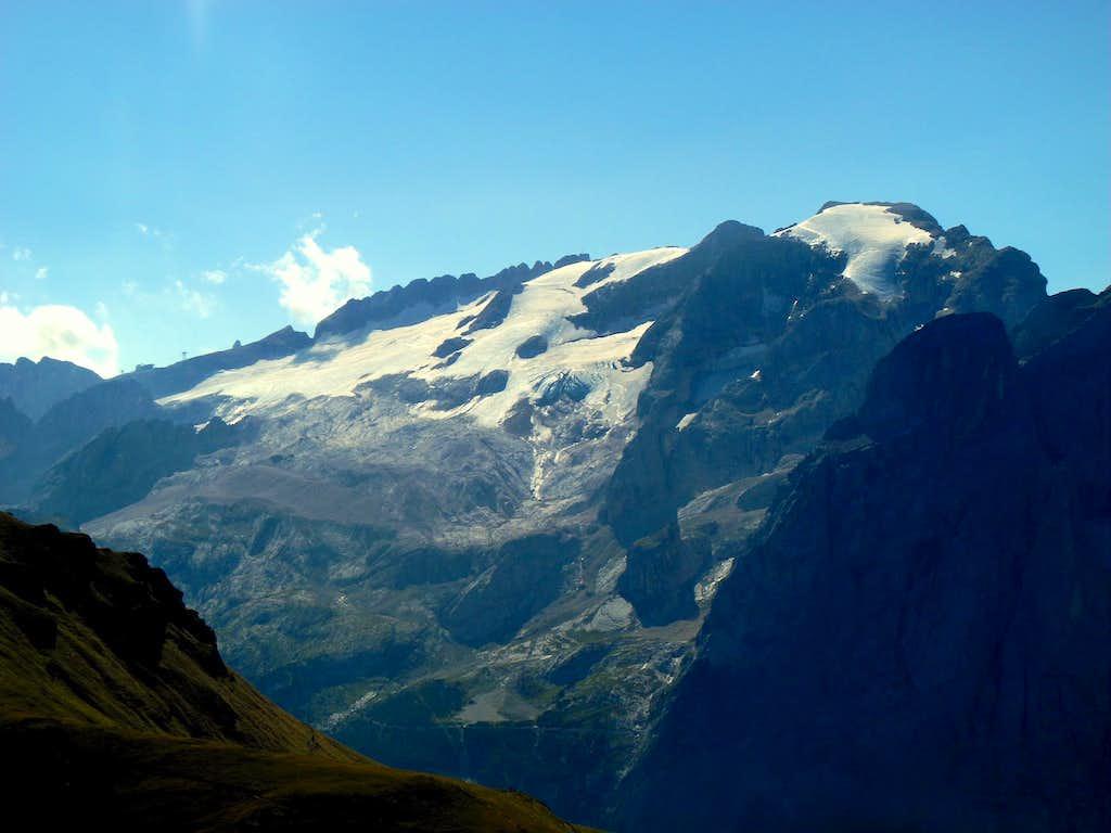 Marmolada from summit of Sass Becè