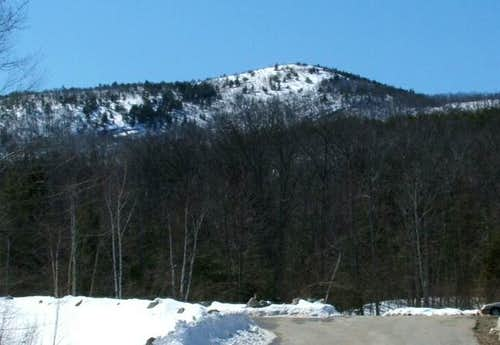 Mt. Major from the trailhead....