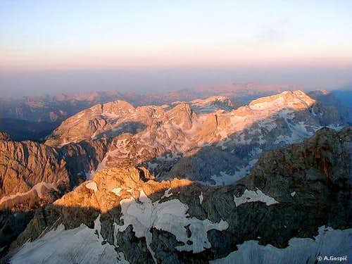Sunrise on Mali Triglav