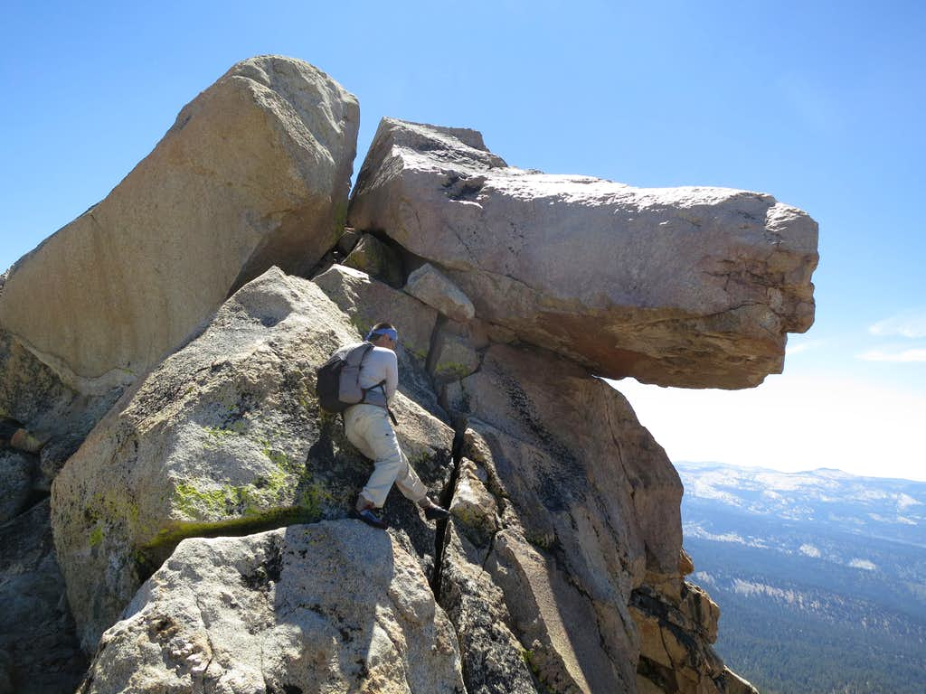 The final 20' to the summit of Mt. Clark
