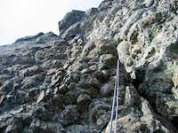 Pax climbing 5.4 pitch, Route...