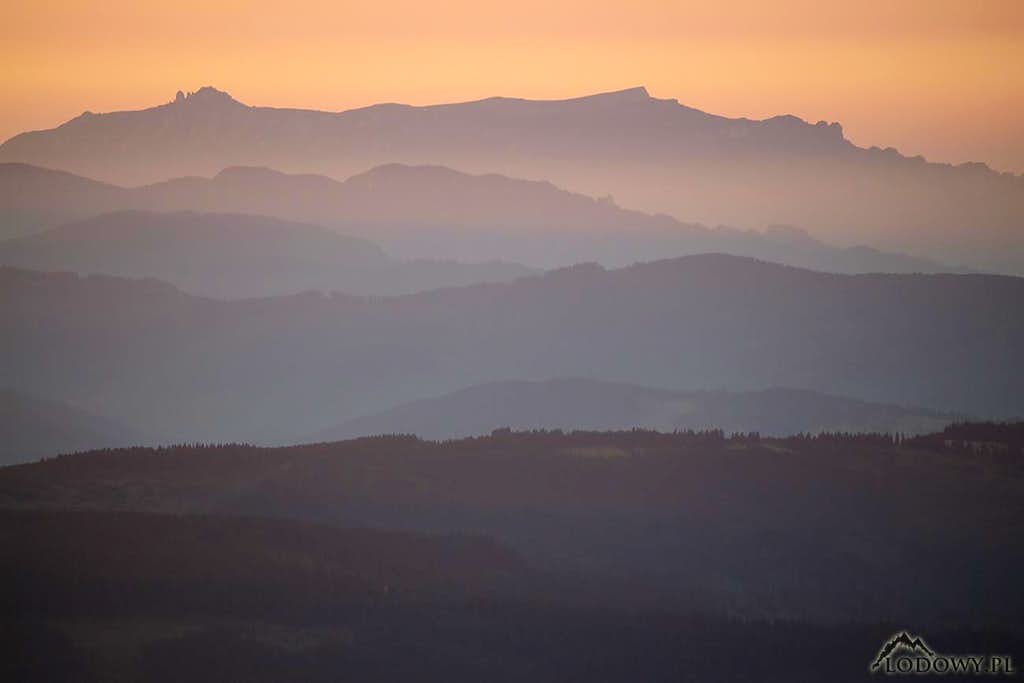 Ceahlau mountains at dawn