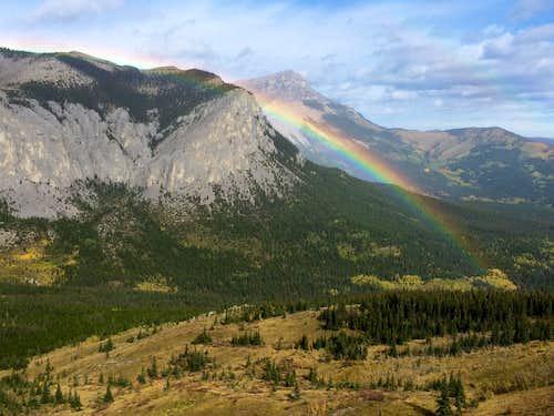 Rainbow from Yamnuska