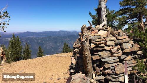 Washington's Monmument while Hiking San Bernardino Peak