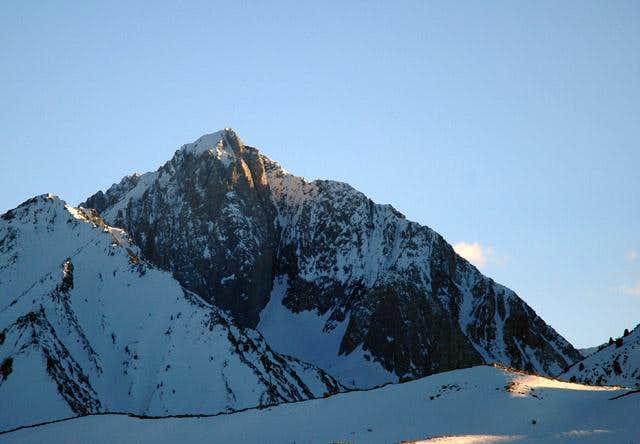 Mt. Morrison at sunset. March...