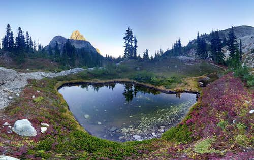 Cathedral Rock and Tarn