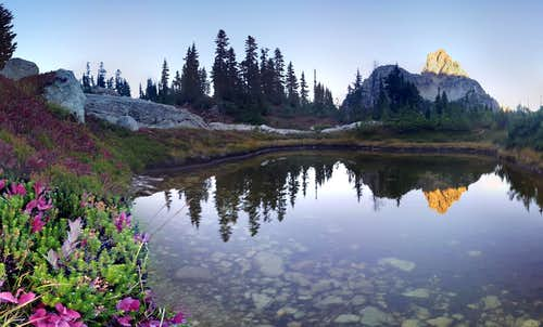 Cathedral Rock Tarn Reflection
