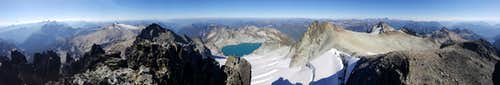Mount Daniel Summit Panorama