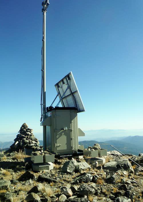 Radio station and summit cairn