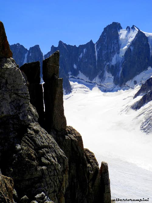 Triolet seen from the summit of Aiguille du Refuge